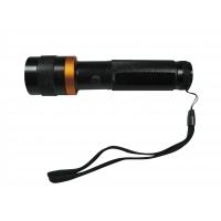 Taschenlampe, schwarz-silber