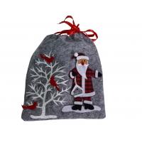 Filz-Weihnachtsbeutel, grau