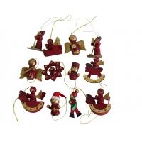 Baumbehang, weihnachtlich 12-er Set