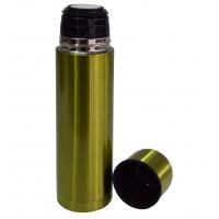 Thermoskanne metallic grün offen