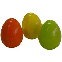 Osterei aus Ton in Frühlingsfarben