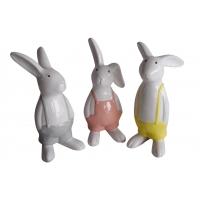 Keramik-Hase mit bunter Hose klein