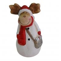 Weihnachts-Elch aus Keramik