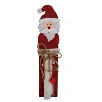 Weihnachtsmann-Holzfigur