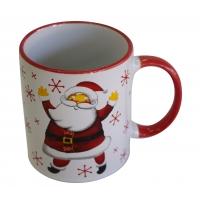 Keramikbecher mit weihn. Motiven Weihnachtsmann