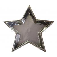 Stern-Schale, silber ca. 17cm