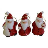 Nikolaus-Anhänger Keramik 3-er Set