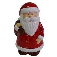 Keramik-Weihnachtsmann, mit Geschenkesack Rücken