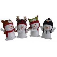 Weihnachtliche Schneemänner aus Polyresin