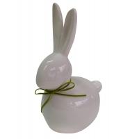 Porzellan-Hase, weiß (ca. 7 - 9 cm)