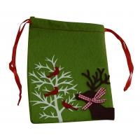 Filz-Weihnachtsbeutel, grün