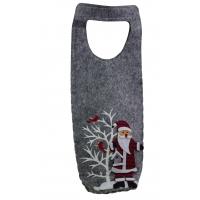 Filz-Weihnachtstasche für 1 Flasche