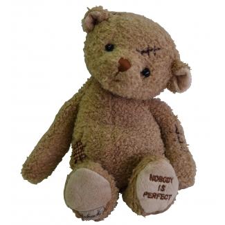 "Teddybär ""Nobody's Perfect"" im Bukowski Design"