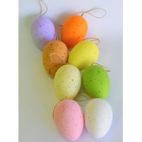 Ostereier/Behang-Eier bunt marmoriert 8-er Set
